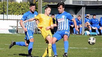 tanden am Samstag erstmals in der Startelf des FC Olten: Edon Morina (links) und Elmin Osmanovic.