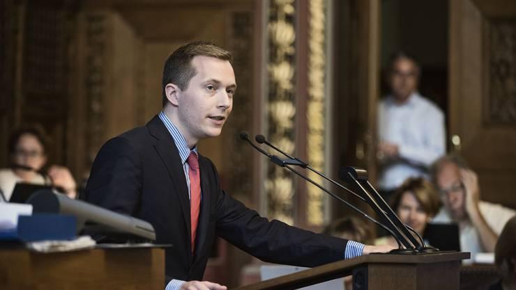 Redet im Ratssaal gerne Baseldytsch: Alexander Gröflin von der SVP.