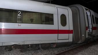 Entgleist: Der ICE aus Berlin könnte wegen einer umgestellten Weiche in Basel aus den Schienen gesprungen sein. (Archivbild)