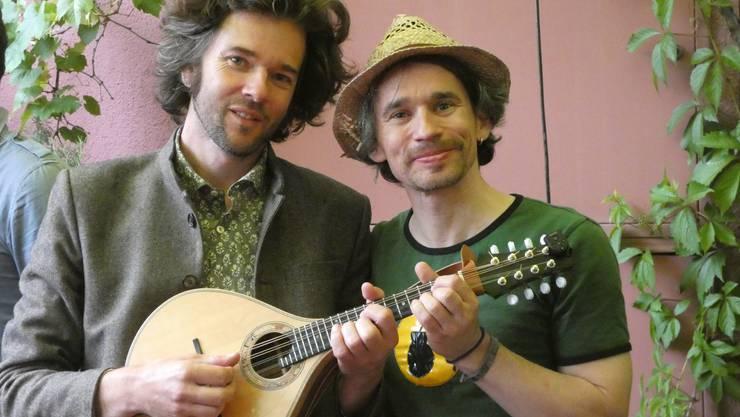 Die Organisatoren Gabriel Kramer (lk.) und Ivo Roesch