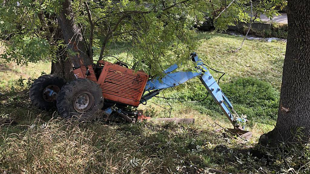 43-Jähriger stirbt bei Baggerunfall im Wallis