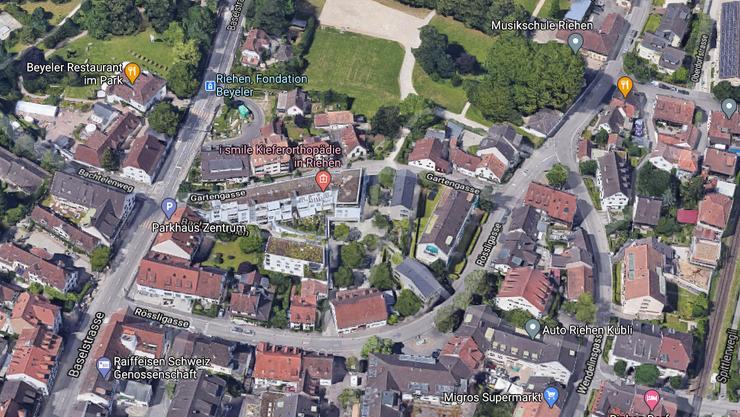 Blick auf die Rössligasse in Riehen.