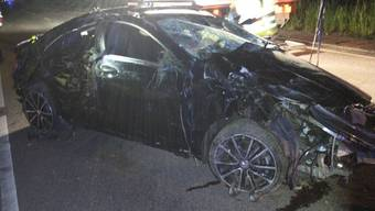 Am Mercedes des Baselbieter Fahrzeuglenkers entstand Totalschaden.