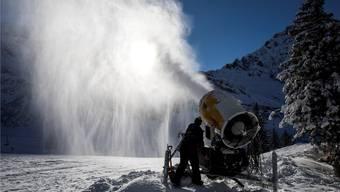 Das Skigebiet Engelberg-Titlis hat in den letzten Jahren fünf Millionen Franken in die technische Beschneiung investiert. Alexandra Wey/Keystone
