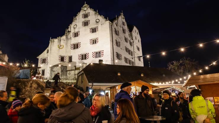 Impressionen vom Weihnachtsmarkt auf Schloss Wildegg 2018.