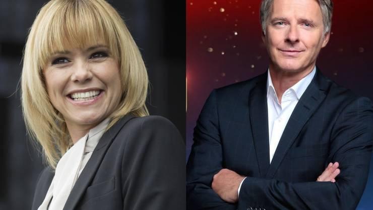 Stehen an Silvester gemeinsam vor der Fernsehkamera: Francine Jordi und Jörg Pilawa. (Archivbilder)