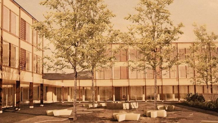 So wird das Schulhaus namens Louise aussehen.