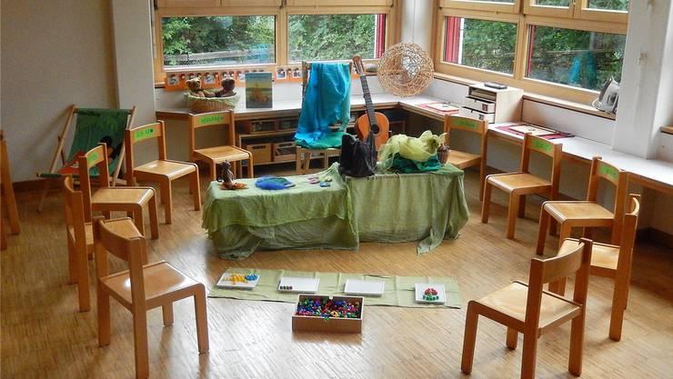 Alles steht in diesem Kindergarten in Derendingen bereit für den ersten Kindergartentag am kommenden Montag.
