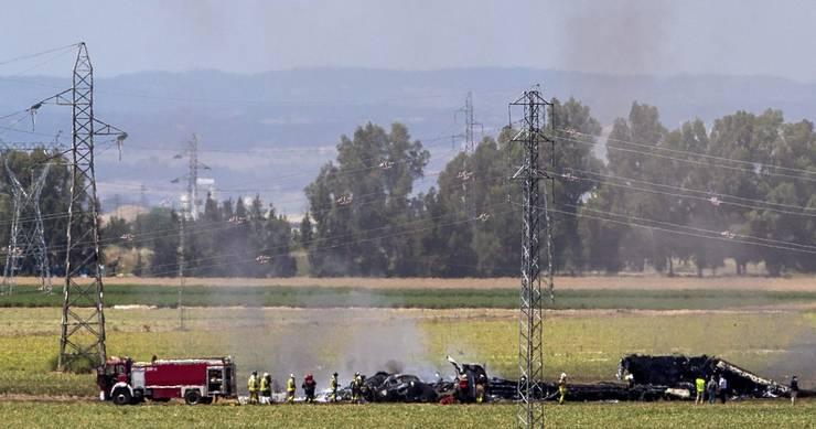 Das Flugzeug wurde komplett zerstört