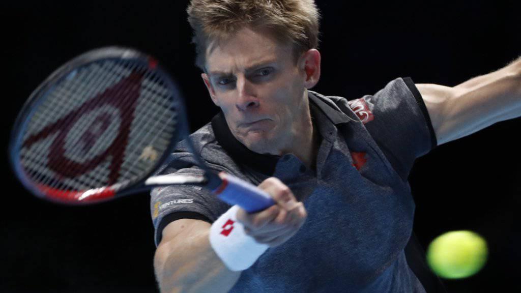 Zu viel Power für Kei Nishikori: Kevin Anderson liess dem Japaner an den ATP Finals in London nicht den Hauch einer Chance
