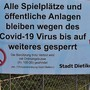Die Stadt Dietikon riegelte den Zugang zur Allmend Glanzenberg ab.