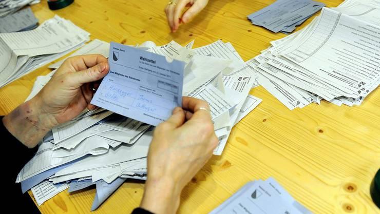 Am 12. April werden in Zürich auch wieder Wahlzettel ausgezählt.