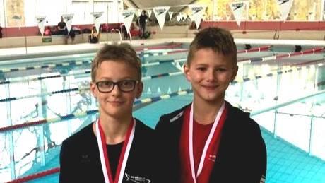 Fabian Radam und Joshua Thölking, Medaillengewinner am RZW Mehrkamfcup.