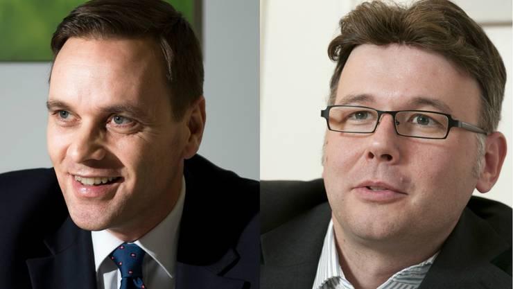 SVP-Fraktionschef Jean-Pierre Gallati und Dieter Egli (SP).