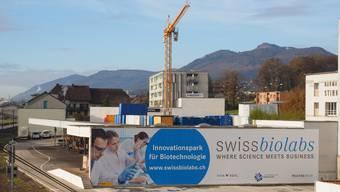 Die Stadt will auf einen Innovationspark, wie der in Olten entstehende «swissbiolabs» (Bild), verzichten.