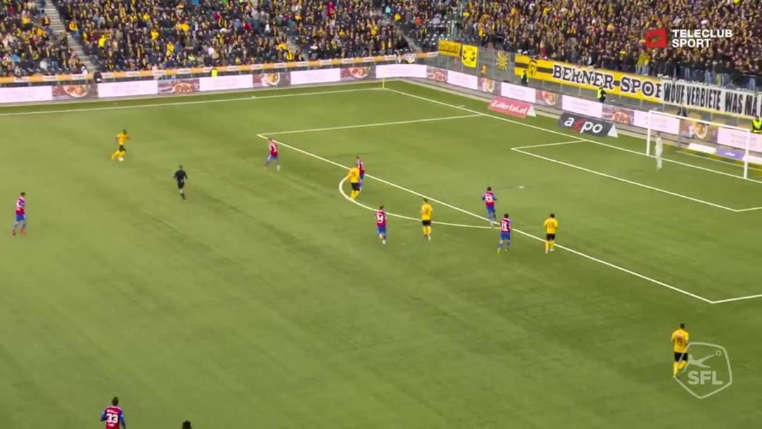 Super League, 2018/19, 33. Runde, YB - FC Basel, 92. Minute: Tor von Nicolas Moumi Ngamaleu.