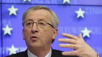 Luxemburgs Premier Jean-Claude Juncker leitete die Sitzung