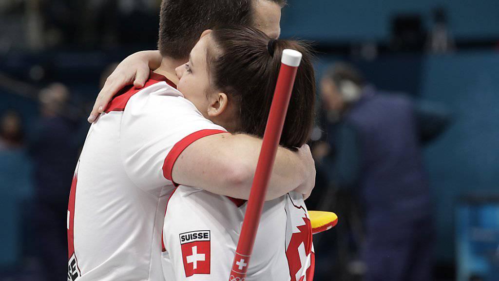 Jenny Perret und Martin Rios haben ihr erstes Ziel erreicht.