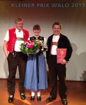 Die Protagonisten des grossartigen Erfolgs (von links nach rechts): Jürg Meyer, Sabrina Bolliger, Sepp Manser