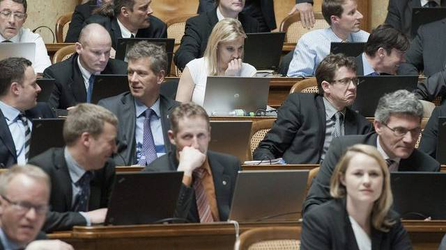 Die SVP-Fraktion im Nationalrat (Archiv)