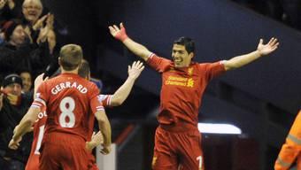 Luis Suarez vierfacher Torschütze gegen Norwich.