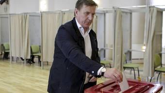Der Ministerpräsident von Lettland, Maris Kucinskis, musste bei der Parlamentswahl am Samstag eine herbe Niederlage einstecken.