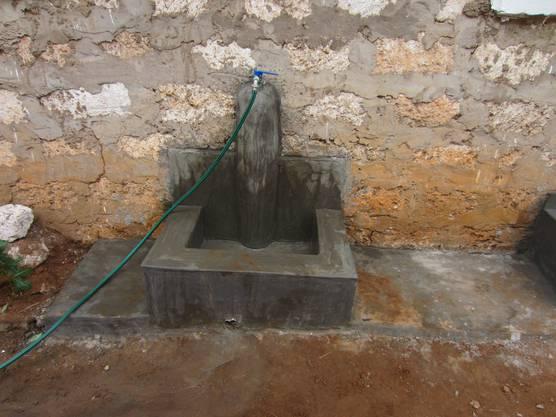 Seit diesem Jahr besitzt die Schule sogar einen Wasseranschluss.