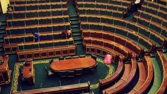 Putzpersonal im ägyptischen Parlament (Archiv)