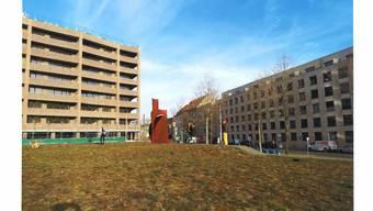 So könnte der «Kentaur» von Reto Zutt die Erlenmatt kulturell bereichern. (Visualisierung / Stadtgärtnerei Basel)