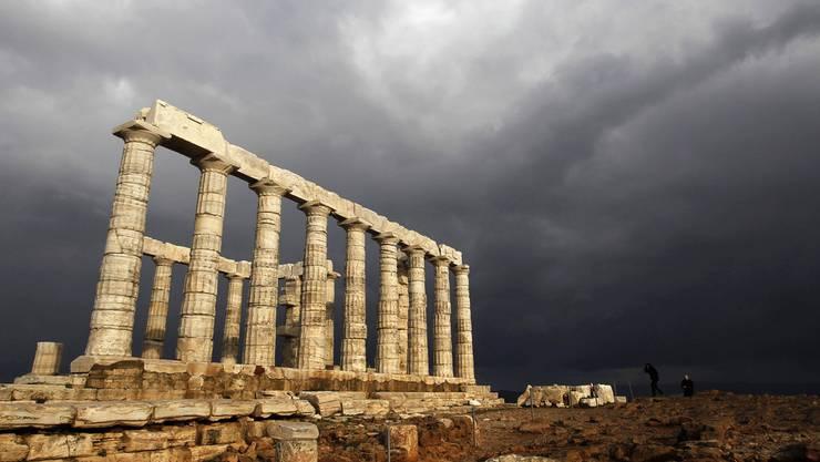 Säulen des Poseidon-Tempels im Süden von Athen aus dem 5. Jahrhundert vor Christus.