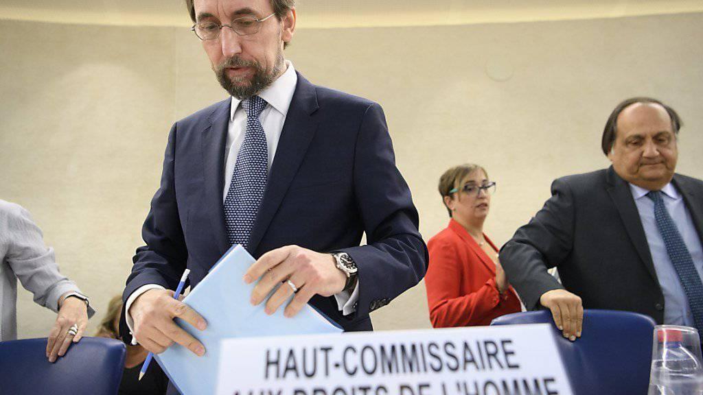UNO-Menschenrechtskommissar Zeid Raad Al Hussein zeichnet ein düsteres Bild über die Lage in Myanmar.