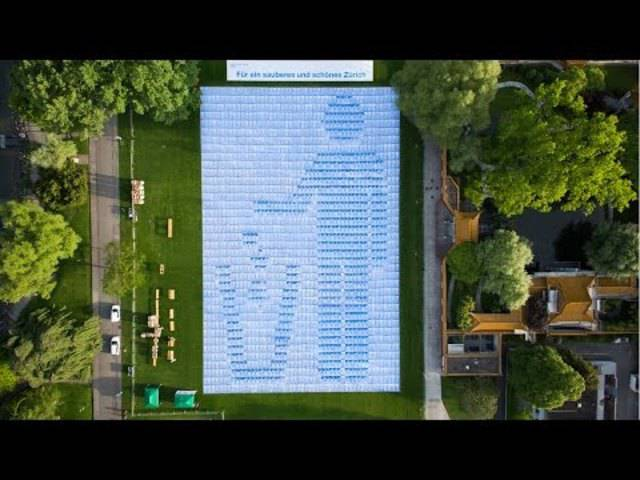 Badetuch-Mosaik bricht Weltrekord