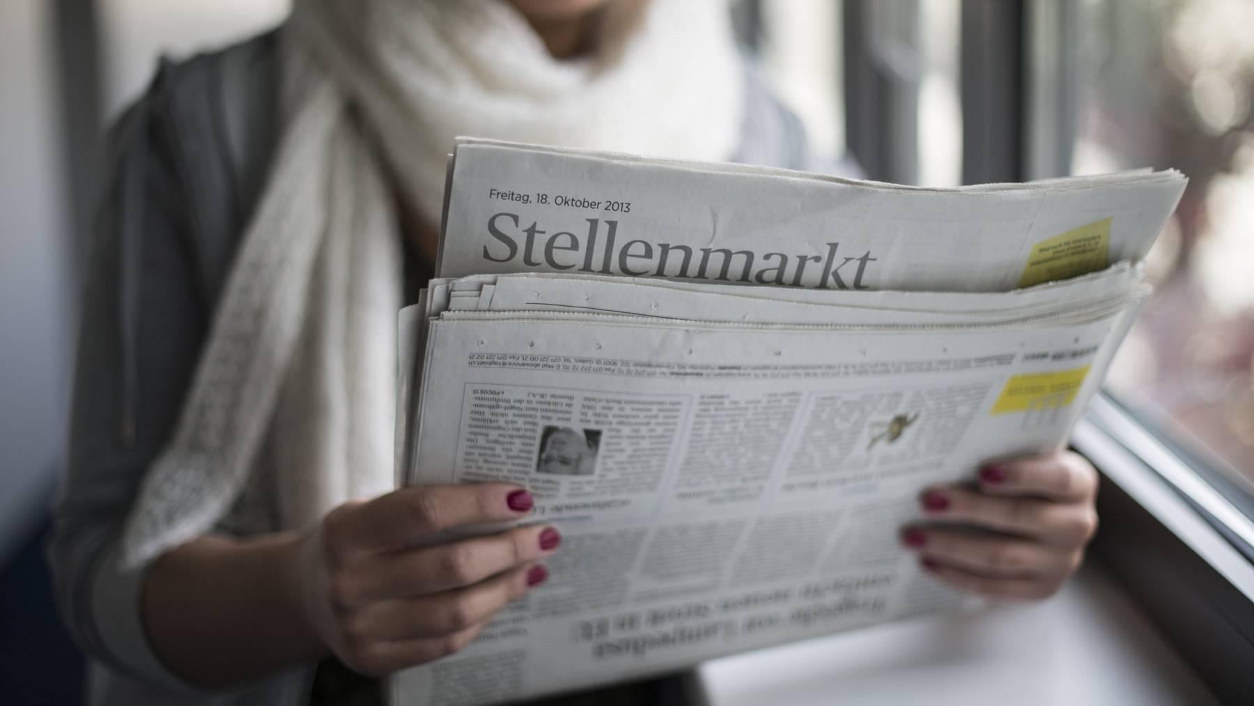 Rekordarbeitslosigkeit in der Schweiz zwingt zu Massnahmen.