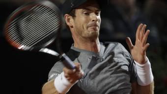 Findet seine Topform nicht mehr: Andy Murray scheiterte in Rom in seinem ersten Spiel an Fabio Fognini