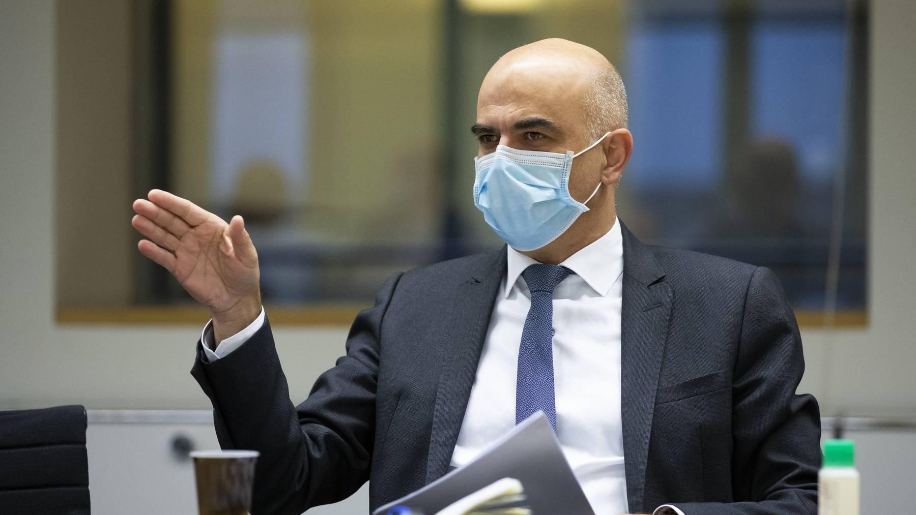 Gesundheitsminister Berset stattete am Montag dem Kanton Waadt einen Besuch ab.