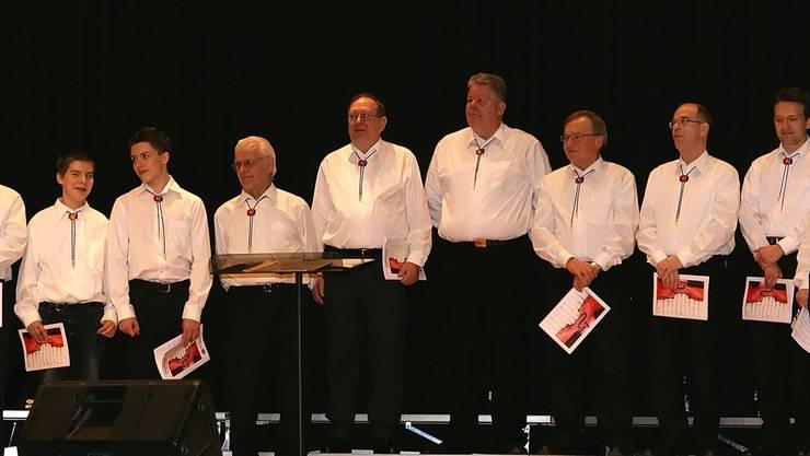 Der Männerhor am Konzert 2011