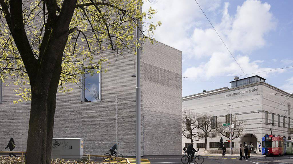 Leuchtturm der Basler Museumslandschaft ist das Kunstmuseum, das auch in der am Mittwoch vorgestellten Museumsstrategie im Fokus steht: Sein Budget dürfte angesichts von Fehlkalkulationen im Zusammenhang mit dem Erweiterungsbau (links im Bild) künftig steigen.