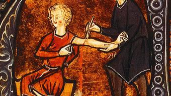 Zur Zeit der Gründung des Aargauer Ärzteverbands im Jahr 1803 wurde der Aderlass noch häufig durchgeführt. ZVG
