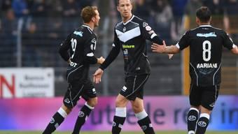 Marc Janko schiesst für Lugano gegen Sion einen eminent wichtigen Treffer