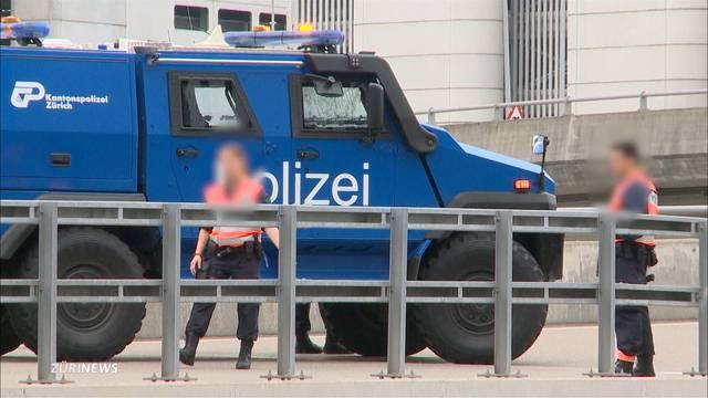 Taxi-Gast löst Grossfandung in Zürich aus
