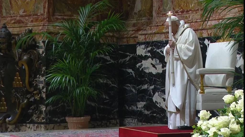 Papst Franziskus feiert seinen zweiten Ostersonntag im Corona-Modus