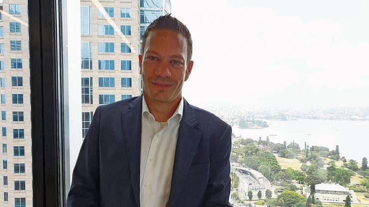 «Die Hilfsbereitschaft ist überwältigend»: Raphael Schmid in seinem Büro in Sydney.