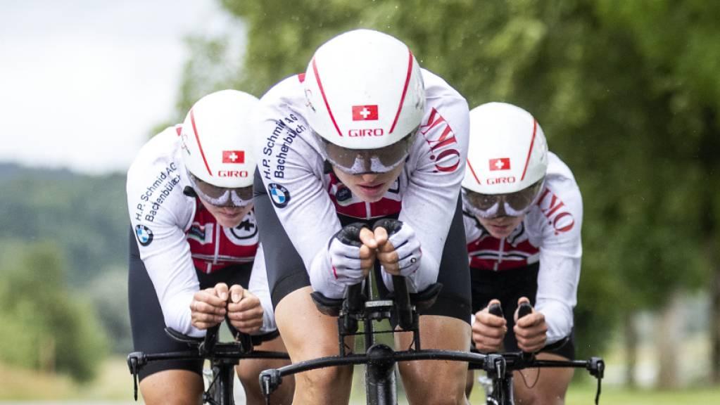 Kathrin Stirnemann, Marlen Reusser und Elise Chabbey (von links nach rechts) zeigten eine starke Leistung