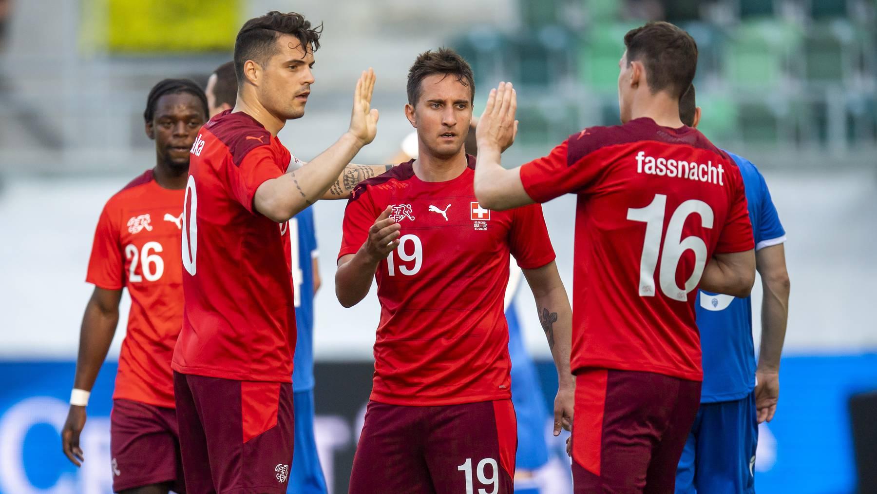 Beim letzten Testspiel vor der EM gegen Nachbar Liechtenstein konnte die Schweiz nochmals Selbstvertrauen tanken.