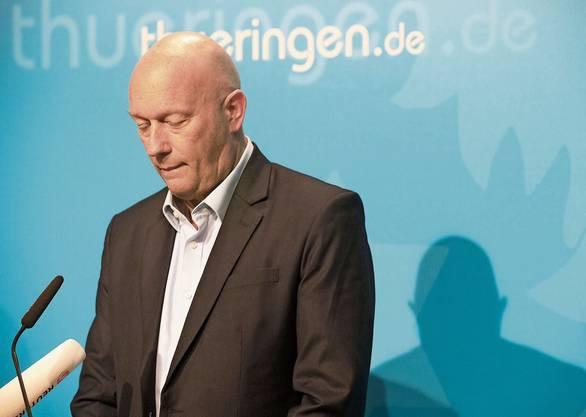 Thomas Kemmerich (FDP), Ministerpräsident von Thüringen, gibt ein Statement in der Saatskanzlei