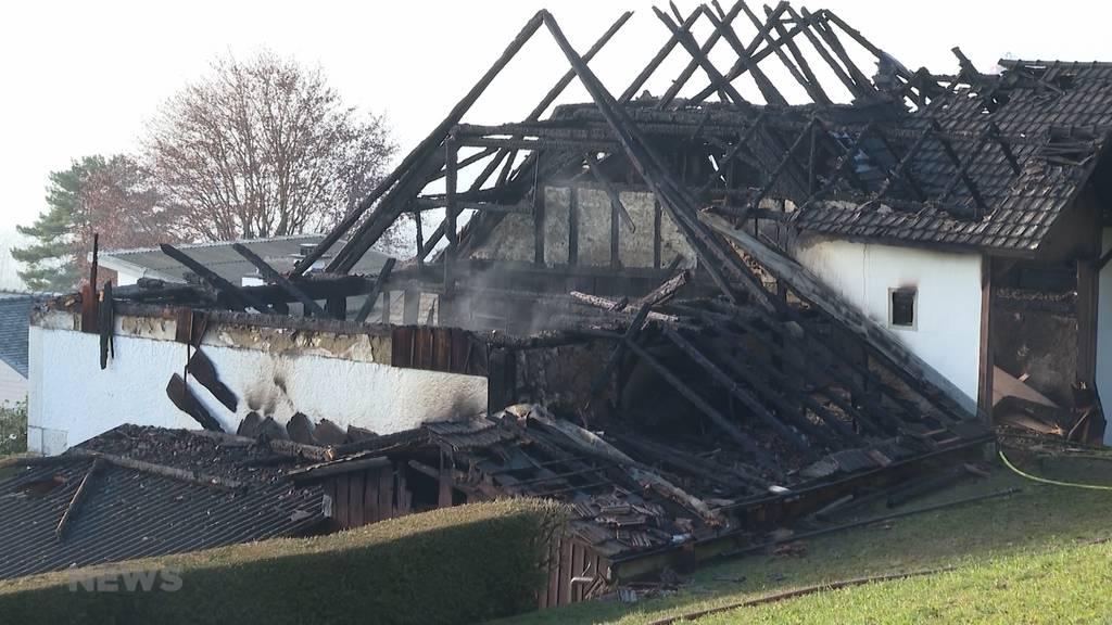 Brand in Oberdorf: Hunde retten Familie vor Unglück