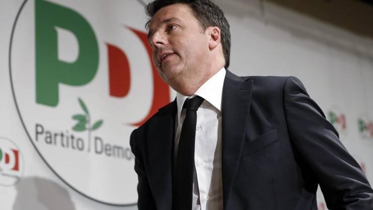 Noch immer sehr einflussreich im Partito Democratico: der frühere Regierungschef Matteo Renzi. Er gilt als Inspirator einer PD-Cinque-Stelle-Koalitionsregierung (Archiv - Bild vom 5. März 2018).