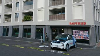 Die Raiffeisenfiliale im Salmenpark in Rheinfelden.