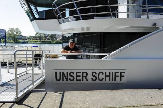 """""""Unser Schiff"""" ist nur der provisorische Name. Der definitive Name des neuen Basler Flaggschiffs wird noch folgen."""