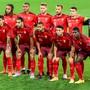 Die Schweizer Nati vor dem Spiel gegen die Ukraine.